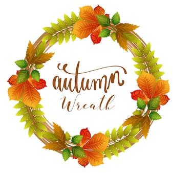 Couronne de l'automne laisse le thème