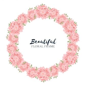 Couronne de cercle floral de chrysanthème