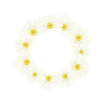 Couronne de chrysanthème blanc
