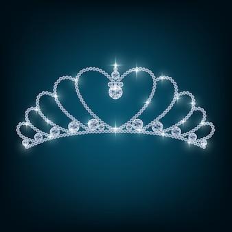 Couronne avec des concepts de diamants