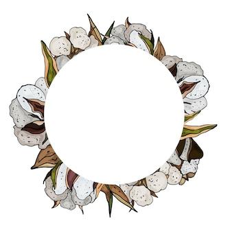 Couronne de coton décorative carte de voeux mignonne invitation de mariage anniversaire pâques