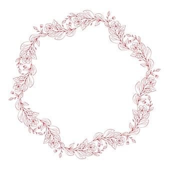 Couronne décorative de fleurs de lavande isolé on white