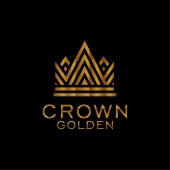 Couronne dorée logo moderne tmeplate