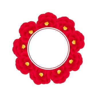 Couronne de fleur de camélia rouge