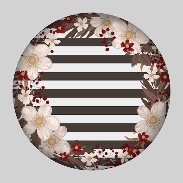 Couronne de fleurs blanches à rayures