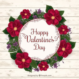 Couronne de fleurs réaliste pour saint valentin
