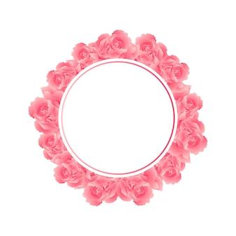 Couronne de fleurs rose carnation