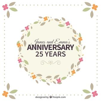 Couronne de fleurs vingt-cinquième anniversaire