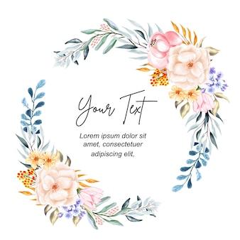 Couronne florale aquarelle
