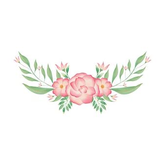Couronne florale de bouquet d'aquarelle colorée