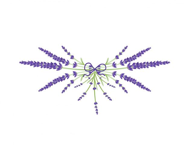 Couronne florale de fleurs de lavande