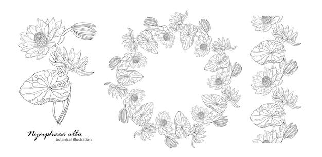 Couronne florale avec des fleurs de lys.