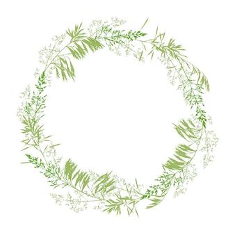 Couronne florale isolé sur blanc