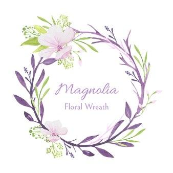 Couronne florale de magnolia