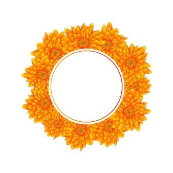 Couronne jaune de chrysanthème