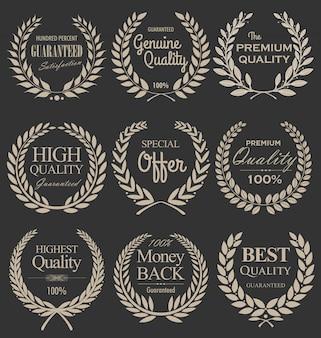 Couronne de laurier de qualité supérieure, set