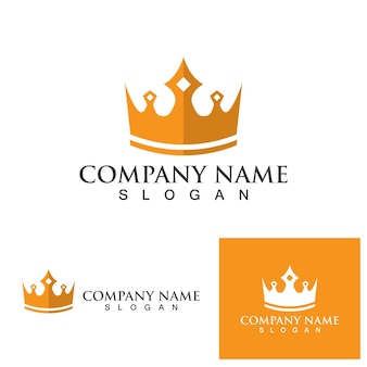 Couronne logo template vecteur icône illustration design