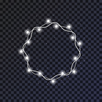 Couronne de lumières de noël rougeoyante