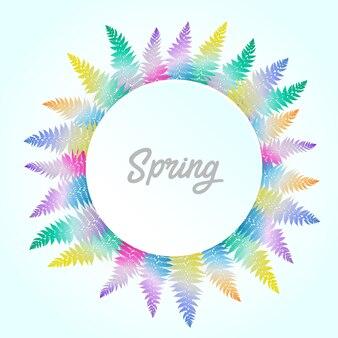 Couronne de mariage et de la feuille colorfull printemps avec style aquarelle
