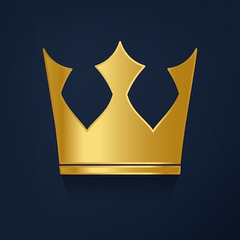 Couronne d'or sur le vecteur de fond bleu