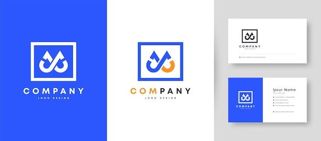 Couronne plate minimale initiale lettre j, jj et jl logo avec modèle de conception de carte de visite premium