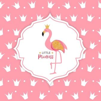Couronne princesse flamingo