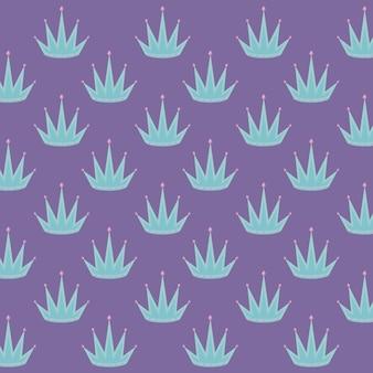 Couronne de reine avec motif de pierres précieuses