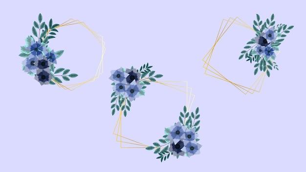 Couronne romantique avec texte de citation modèle de carte de place invitation de fleurs