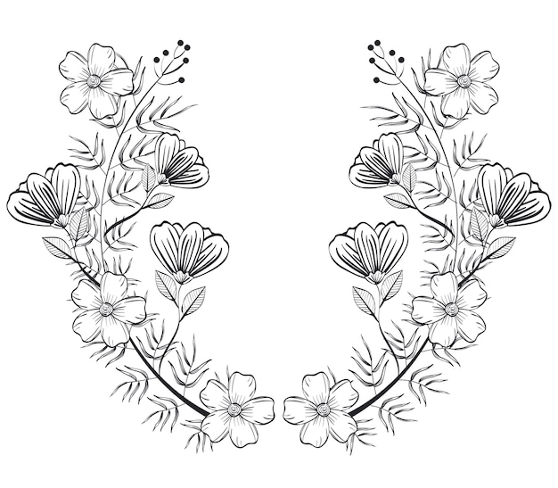 Couronne rustique couronne icône