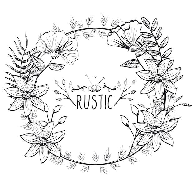 Couronne de sceau circulaire rustique