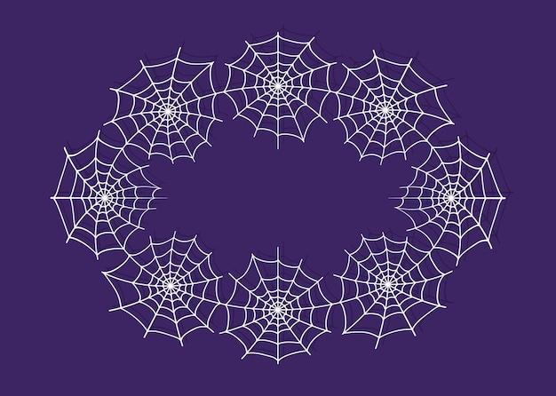 Couronne de toile d'araignée pour les conceptions d'halloween trick or treat cadre de toiles d'araignée