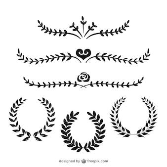 Des couronnes et des diviseurs laurel