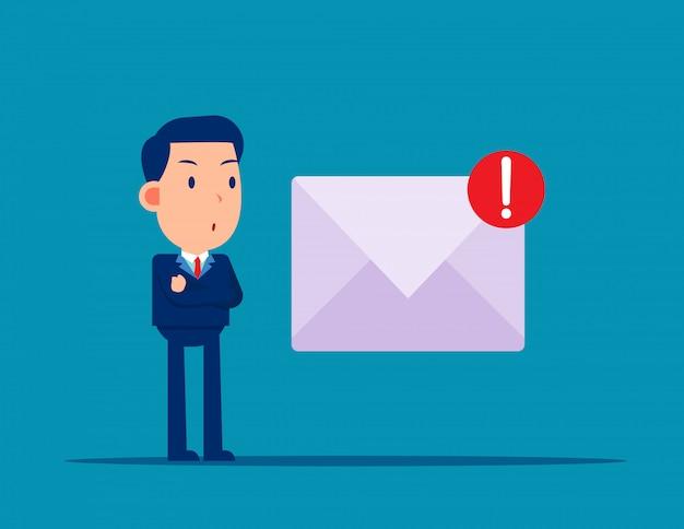 Courrier indésirable et virus. danger en ligne