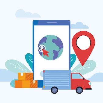 Courrier international avec livraison sur site