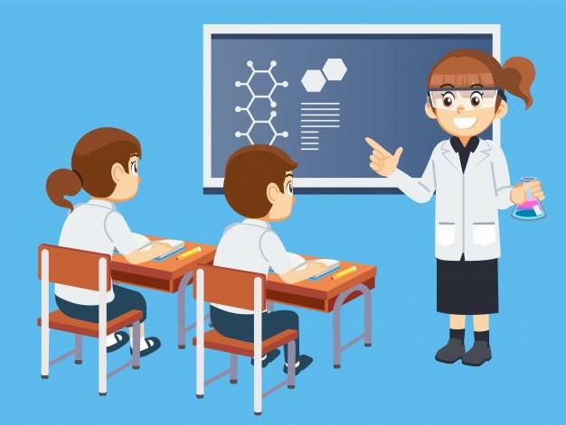 Cours d'apprentissage de l'étudiant avec un enseignant.