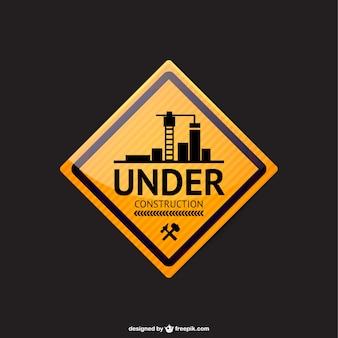 En cours de construction signe vecteur