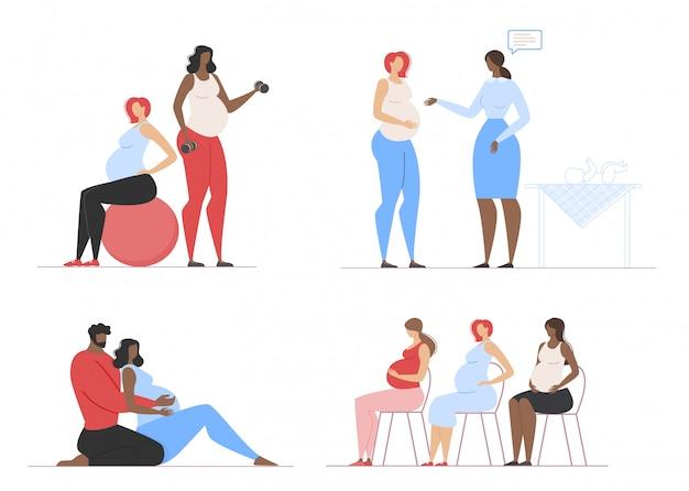 Cours de fitness et de conseil pour les femmes enceintes