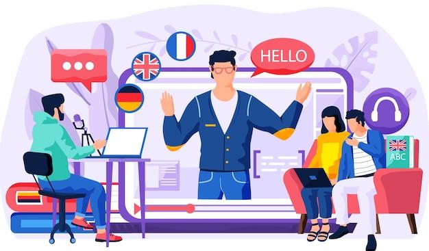 Cours de langue en ligne avec locuteur natif