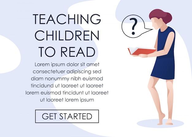 Cours en ligne apprenant aux enfants à lire la bannière