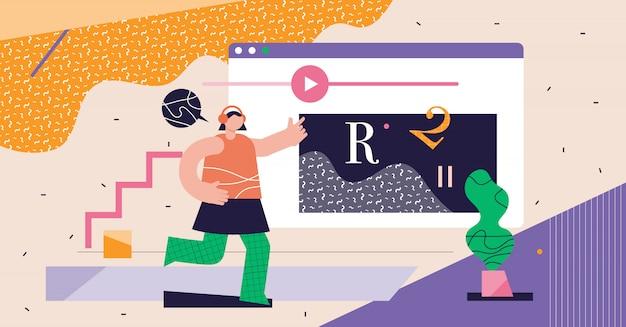 Cours en ligne concept abstrait moderne cyberespace