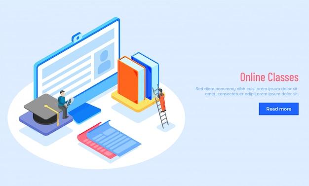 Cours en ligne ou concept d'apprentissage en ligne.