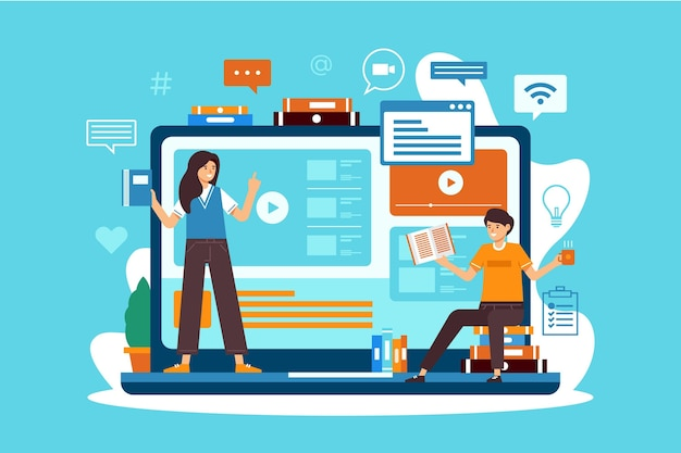 Cours en ligne pour étudiants en quarantaine