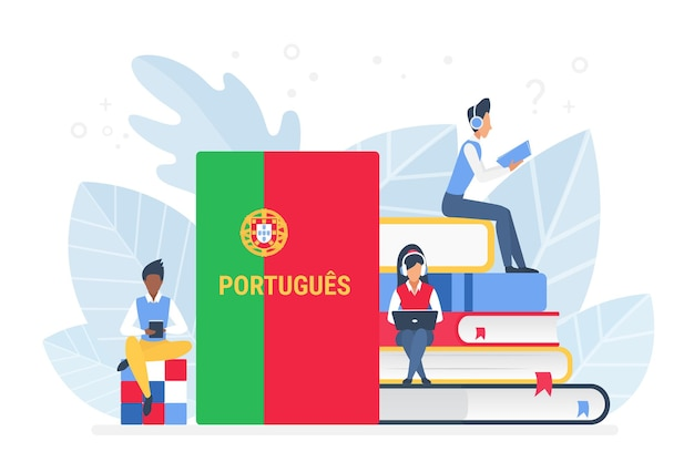 Cours de portugais en ligne concept d'école ou d'université à distance