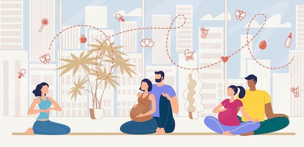 Cours de préparation au premier accouchement à plat