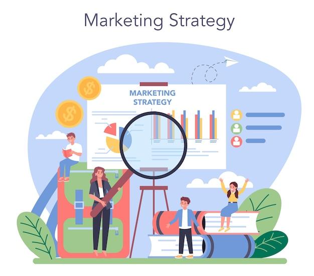 Cours scolaire d'éducation au marketing.