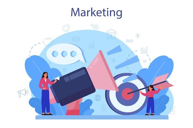 Cours scolaire d'éducation au marketing