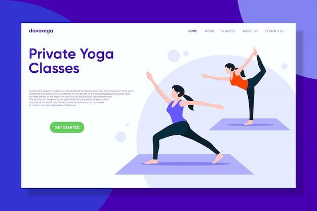 Cours de yoga privés page de destination