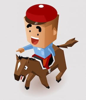 Course de chevaux de jockey