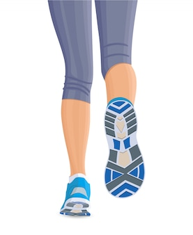 Course de jambes féminines