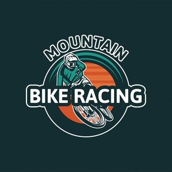 Course de vélo de montagne. conception de badge pour le tournoi.